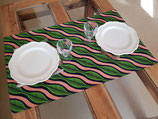 Double-set de table vagues rose/vert
