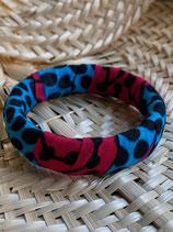 Bracelet 19mm Wax turquoise/fuchsia