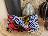 Headband Wax fleurs de mariage orange/jaune fond blanc