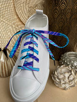 Lacets Wax petites feuilles bleu
