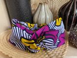Headband Wax fleurs de mariage violet/jaune