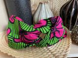 Headband Wax Fleurs de mariage fuchsia fond vert