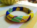 Bracelet 15mm Wax jaune/bleu roi