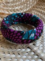 Bracelet 25mm Wax turquoise/violet