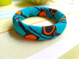 Bracelet 19mm Wax turquoise/orange