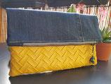Pochette jean/simili jaune