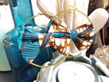 Créoles Wax étoile turquoise