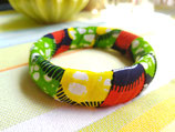 Bracelet 19mm Wax vert/orange/jaune