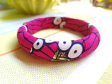 Bracelet Wax 15mm kaki fuschia