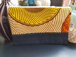 Trousse Wax/jean cercles jaune/orange