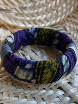 Bracelet 25mm Wax bleu/violet/kaki