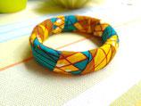 Bracelet 19mm Wax émeraude/jaune