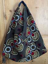 Sac Origami fond mini fleurs motifs papillon rouge/brun