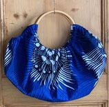 sac boule Wax bleu vif spirale blanc