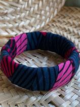 Bracelet 25mm Wax bobines rose/gris