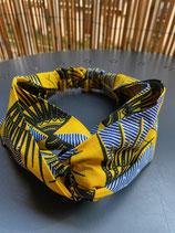 Headband wax vintage jaune/bleu
