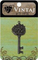 Vintaj Arte Metal Floral Key (AP0005R)