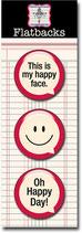 Jenni Bowlin Flat Back Speech Bubbles - Happy