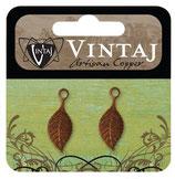 Vintaj Artisan Copper Spring Green Leaf (CDP0003R)