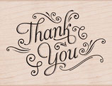 Hero Arts Woodblock Stamps:Thank You with Flourishes k5870