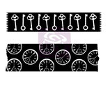 Prima Washi Tape Stamps: 564407 Keys & Clocks