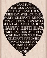 Hero Arts Woodblock Stamps: Birthday Balloon G5901