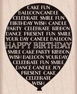 Hero Arts Woodblock Stamps: Birthday Balloon G5901