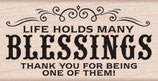 Hero Arts Woodblock Stamps: Many Blessings H5894