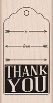 Hero Arts Woodblock Stamps: Thank You with Arrows H5873