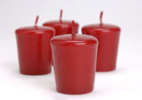 097845: Lot 4 bougies votive rouge