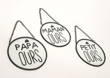 146334: Plaques boules ours 3 designs assortis
