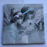 Vintage - 2 Engel mit Haarschmuck / #000108