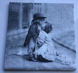 Vintage - Kuss mit Zylinder / #000101 +