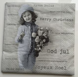 Vintage - Merry Chrismas Mädchen / #000123