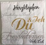 9. Liebe/Hochzeit - Serviette 33x33 / #000819