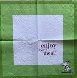 Serviette 33x33 / #snoopy007