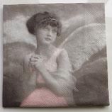 Vintage - Engel, junges Mädchen rosa / #000122