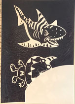 Schablone Monster + Hai - #R-45-053-00
