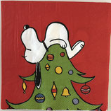 Serviette 33x33 / #snoopy001