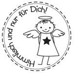 Mini-Holzstempel Himmlisch , 2cm ø