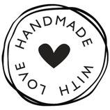Stempel Handmade with love , 3cm ø