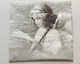 Vintage - Engel mit Instrument / #000131