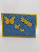 Osterkarte: Schmetterlinge