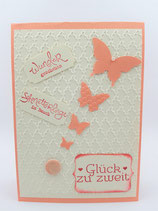 Hochzeitskarte Schmetterlinge