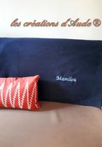 Plaid couverture rouge, marine ou bleu roi