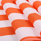 toile transat rayée orange et blanc