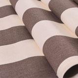 Toile transat rayée grise et blanc