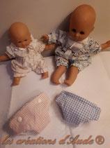 Couches pour poupon ou poupées