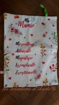 "serviette imprimée ""Ma Mamie"""