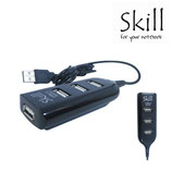 HUB USB SKILL 4 PORT 2.0 BLACK